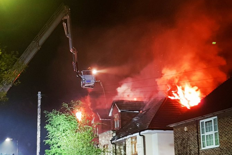 Chingford fire: Firefighters at the blaze
