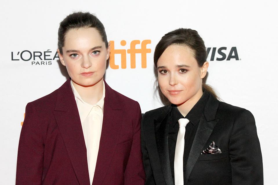 Emma Portner e Elliot Page (Photo by Jeremy Chan/Getty Images)