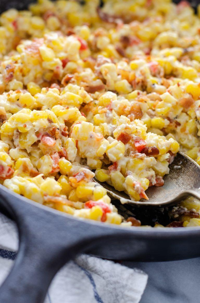 "<p>Make this creamy, cheesy dish for a side or a dip at your next summer gathering. </p><p><strong>Get the recipe at <a href=""https://www.thepioneerwoman.com/food-cooking/recipes/a104938/cream-cheese-and-bacon-corn/"" rel=""nofollow noopener"" target=""_blank"" data-ylk=""slk:Buttered Side Up"" class=""link rapid-noclick-resp"">Buttered Side Up</a>.</strong></p><p><strong><a class=""link rapid-noclick-resp"" href=""https://go.redirectingat.com?id=74968X1596630&url=https%3A%2F%2Fwww.walmart.com%2Fsearch%2F%3Fquery%3Dskillets&sref=https%3A%2F%2Fwww.thepioneerwoman.com%2Ffood-cooking%2Fmeals-menus%2Fg35993911%2Fbest-corn-recipes%2F"" rel=""nofollow noopener"" target=""_blank"" data-ylk=""slk:SHOP SKILLETS"">SHOP SKILLETS</a><br></strong></p>"