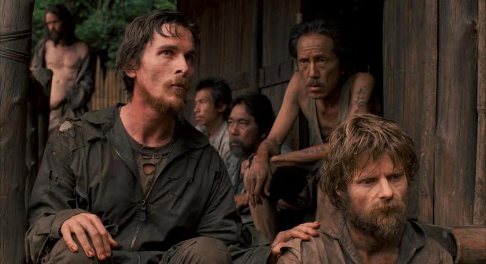 Bale lost 63 pounds to play a real-life prisoner of war in Werner Herzog's Rescue Dawn (Credit: MGM)