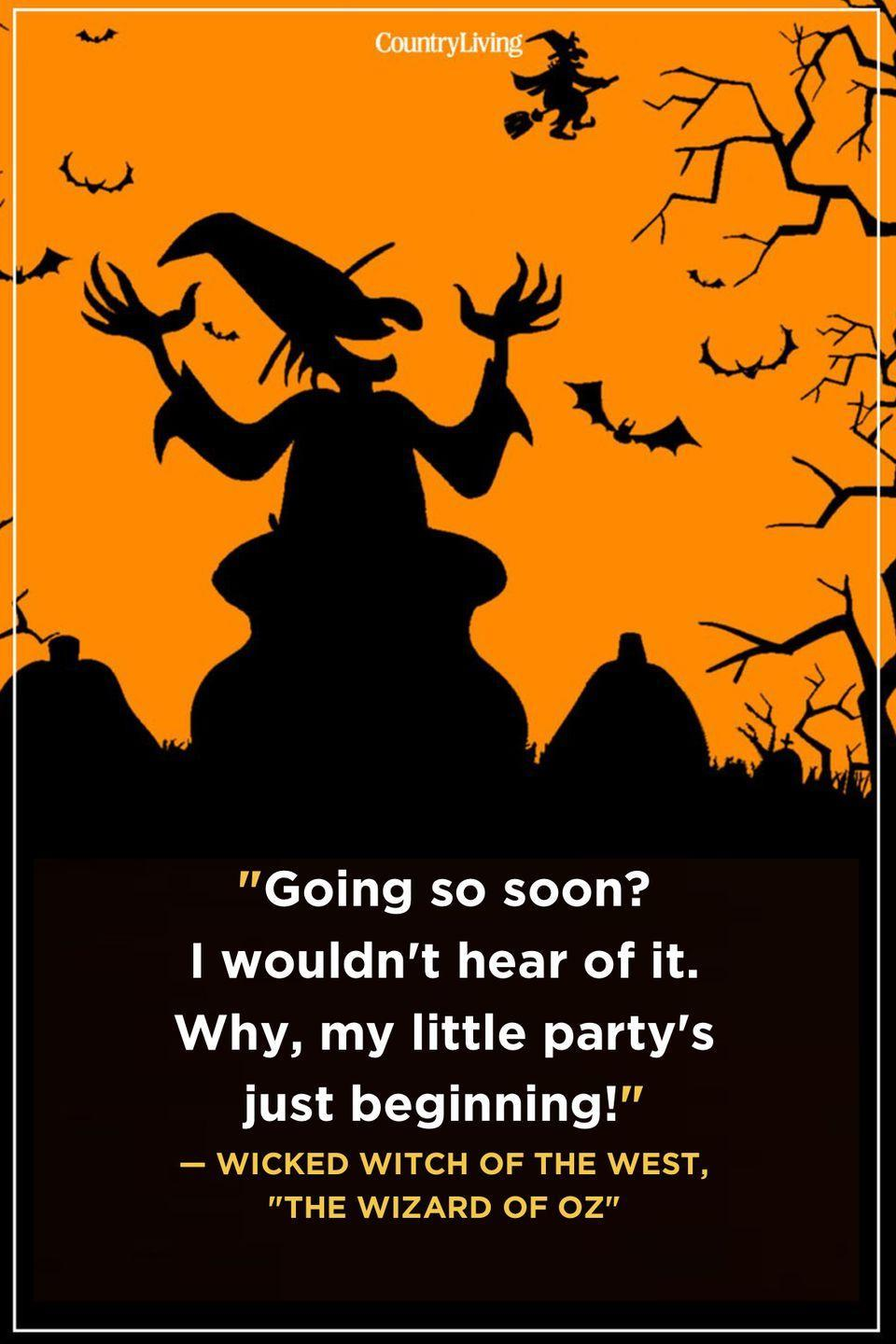 """<p>""""Going so soon? I wouldn't hear of it. Why, my little party's just beginning!""""</p>"""