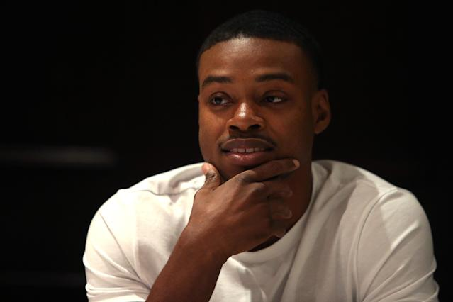 Errol Spence Jr. during a media luncheon at The Palm West on June 19, 2018 in New York City. (Michael Owens/Getty Images)