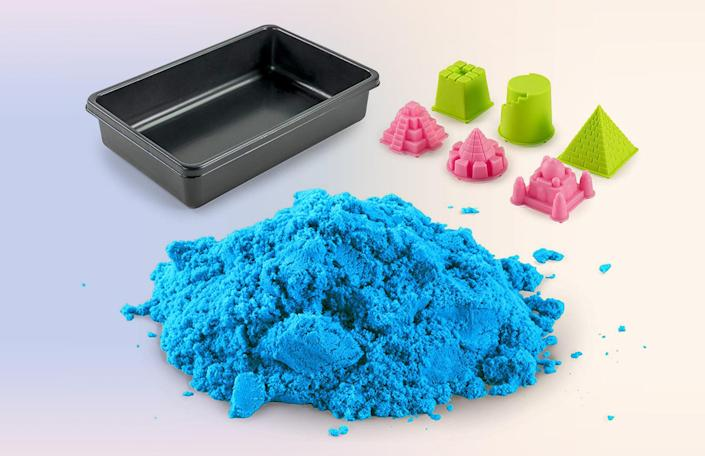 "If you've spent any time around kids recently, you are familiar with slime. What you may not realize is that playing around with the stuff can actually trigger ASMR, which then reduces stress and anxiety. We especially love this kinetic sand slime that not only calms as you squeeze it, but is also primed for building cool sculptures and mini castles! <a href=""https://amzn.to/2O2nXa9"" rel=""nofollow noopener"" target=""_blank"" data-ylk=""slk:SHOP NOW"" class=""link rapid-noclick-resp"">SHOP NOW</a>: Play Sand by National Geographic, $12, amazon.com"