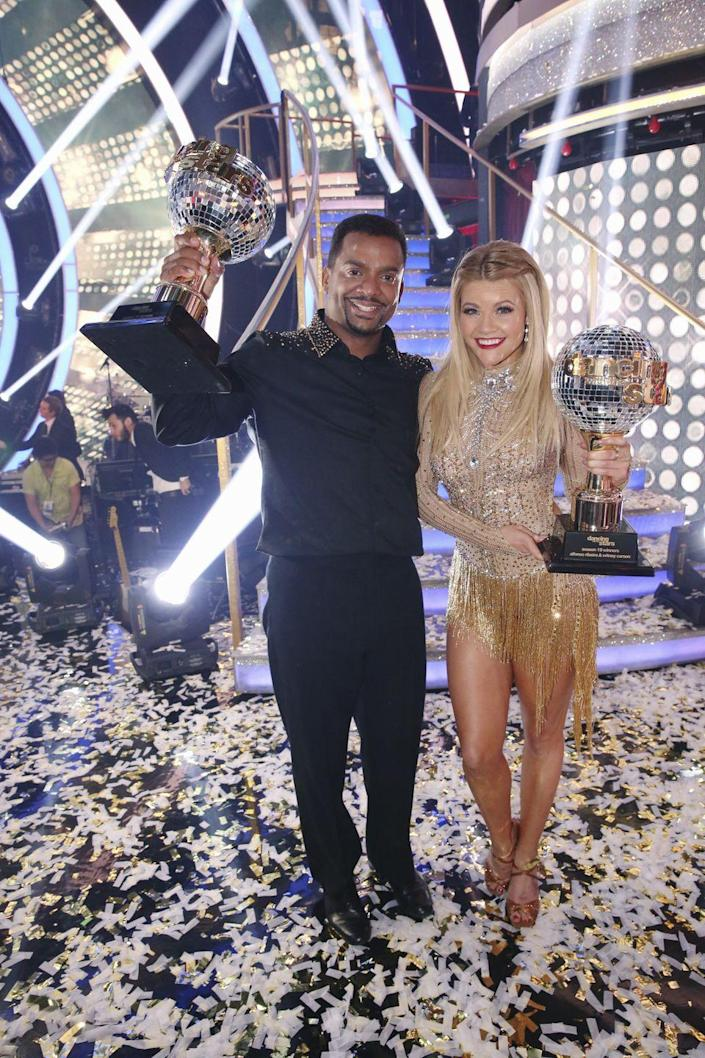 <p><strong>Season: </strong>19</p><p><strong>Runners-up: </strong>Sadie Robertson & Mark Ballas</p><p><strong>About Alfonso: </strong>Not only does he host <em>America's Funniest Home Videos</em>, he played Carlton on <em>The Fresh Prince of Bel-Air!</em></p>