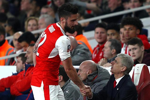 Olivier Giroud's agent hints striker's Arsenal future is tied to Arsene Wenger as he denies Marseille talks