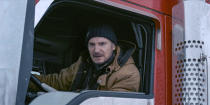 """This image released by Netflix shows Liam Neeson in a scene from """"The Ice Road."""" (Allen Fraser/Netflix via AP)"""