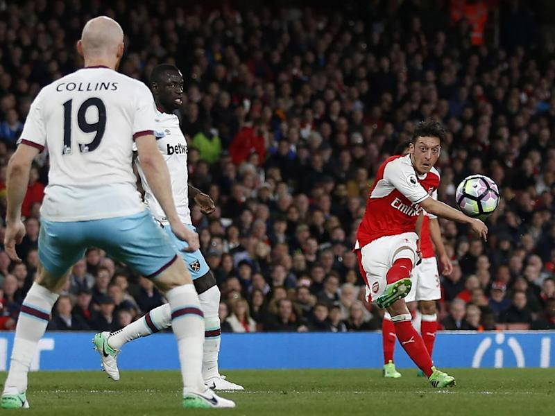 Ozil's goal was the sort of luck United aren't getting (Getty)