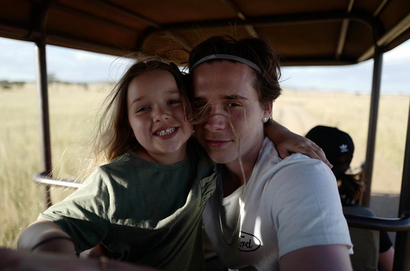 """<p>Harper Beckham's big brother Brooklyn had nothing but love for the now 6-year-old. """"Happy birthday to my little sister. Love you so much,"""" he wrote. (Photo: <a rel=""""nofollow noopener"""" href=""""https://www.instagram.com/p/BWW5yMaDkfM/?taken-by=brooklynbeckham"""" target=""""_blank"""" data-ylk=""""slk:Brooklyn Beckham via Instagram"""" class=""""link rapid-noclick-resp"""">Brooklyn Beckham via Instagram</a>) </p>"""