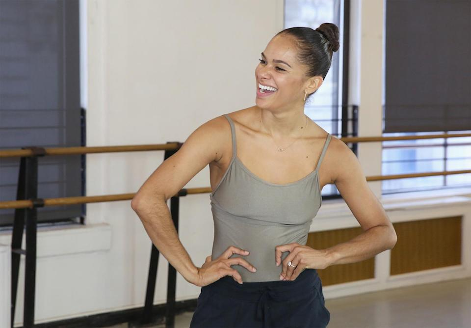 """<p><span>When you're an American ballet superstar, exercise and staying in shape is mandatory. So when Misty Copeland needs to relax, she turns to something else. </span><span>""""After a show it's late at night and you're exhausted, but your adrenaline is still pumping,"""" Copeland </span><a rel=""""nofollow noopener"""" href=""""https://www.womenshealthmag.com/fitness/misty-copeland"""" target=""""_blank"""" data-ylk=""""slk:told"""" class=""""link rapid-noclick-resp""""><span>told</span></a><span><em> Women's Health</em>. """"I usually listen to music and walk home to kind of transition into relaxed mode. I get home and usually have a glass of wine … and try to relax.""""</span><br>(Photo: Getty Images) </p>"""