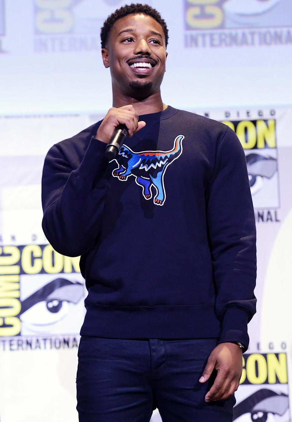 <p>The <i>Creed</i> star is joining the <i>Black Panther</i> cast as expert fighter Erik Killmonger. <i>(Photo: Albert L. Ortega/Getty Images)</i></p>