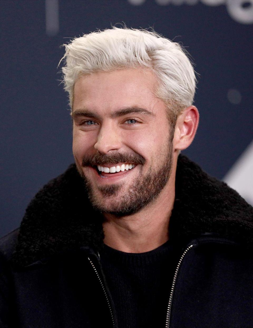 <p>A moment of silence for platinum blonde Zac Efron. You will be missed dearly. </p>