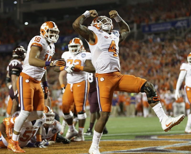 Clemson defeated Virginia Tech to claim the ACC title and a likely spot in the College Football Playoff. (AP)
