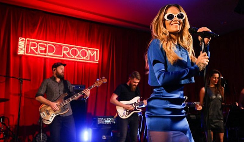 The singer is in Australia as part of Nova's Red Room powered by Vodafone. Source: Nova