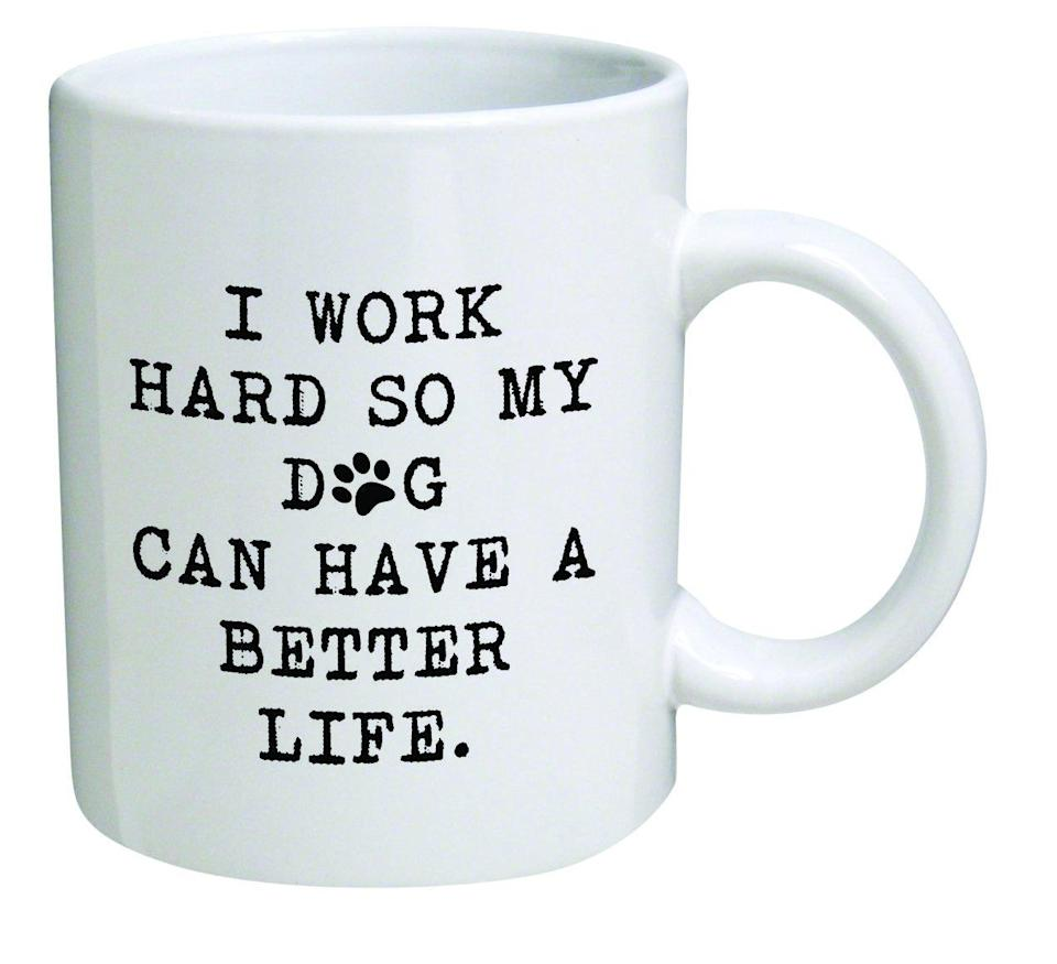 """<h3><strong>Dog Mom Mug</strong></h3><br>Because you know who her <em>real</em> favorite child is.<br><br><strong>Rating: </strong>4.6 out of 5 stars, and 126 reviews<br><br><strong>A Satisfied Customer Review: </strong>""""This mug was a gift for my wife since her puppy has taken over out home in a good way!!!! Great quality and to date holds up in dishwasher.""""<br><br><strong>Thinker Art</strong> Novelty Mug, $, available at <a href=""""https://www.amazon.com/Funny-Mug-11OZ-Inspirational-coworkers/dp/B01BJ8HB9E/ref=sr_1_41"""" rel=""""nofollow noopener"""" target=""""_blank"""" data-ylk=""""slk:Amazon"""" class=""""link rapid-noclick-resp"""">Amazon</a>"""