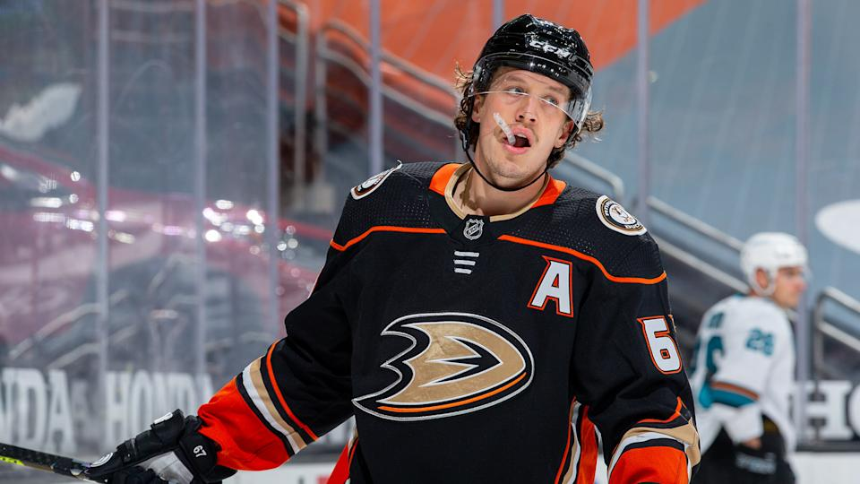 Rickard Rakell could be on the move before the April 12 trade deadline. (Photo by Debora Robinson/NHLI via Getty Images)
