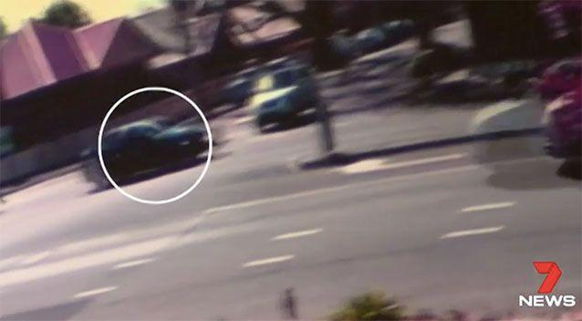 The driver of this car dragged Mik Shida along the road. Source: 7 News