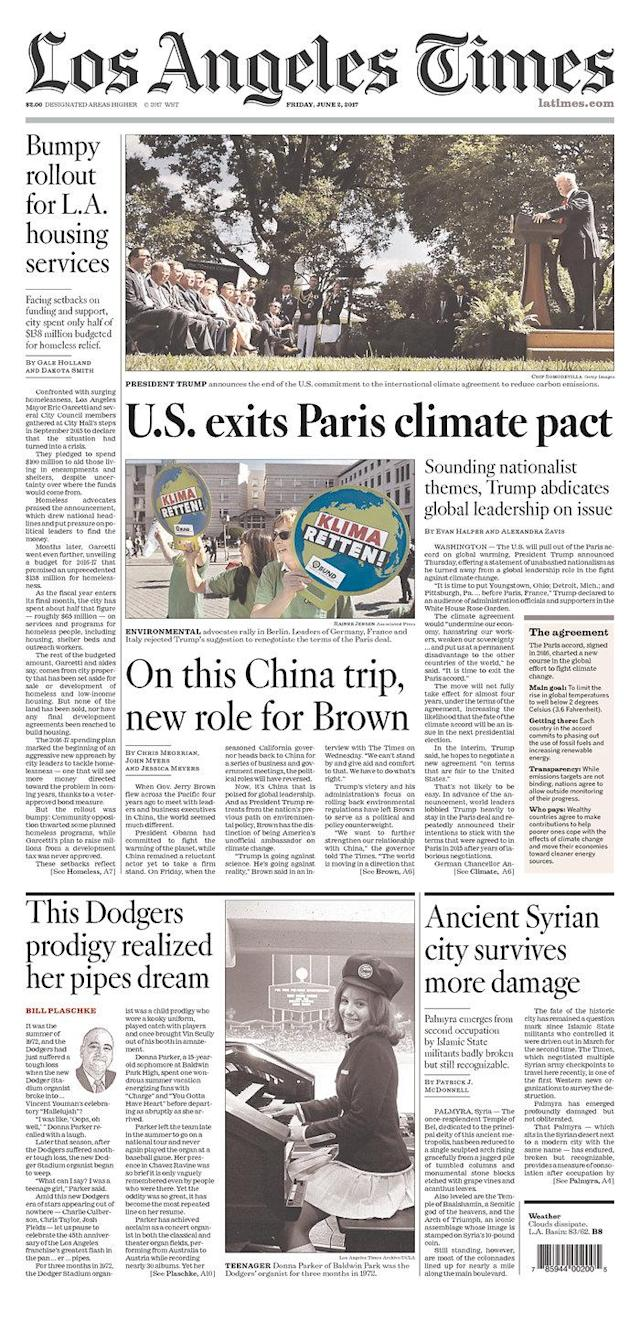 "<p>""Los Angeles Times,"" published in Los Angeles, Calif. (Newseum) </p>"