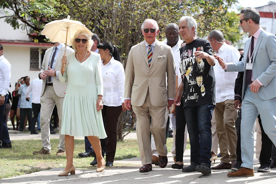 The Prince of Wales and the Duchess of Cornwall arrive at a British Classic Car event in Havana, Cuba, as part of an historic trip which celebrates cultural ties between the UK and the Communist state.