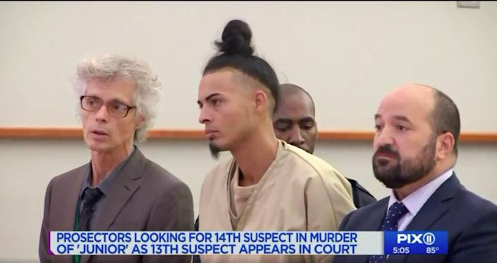 Ronald Urena pleaded not guilty on Aug. 27, 2018, to charges including murder, manslaughter, conspiracy and gang assault. (Photo: Pix11)