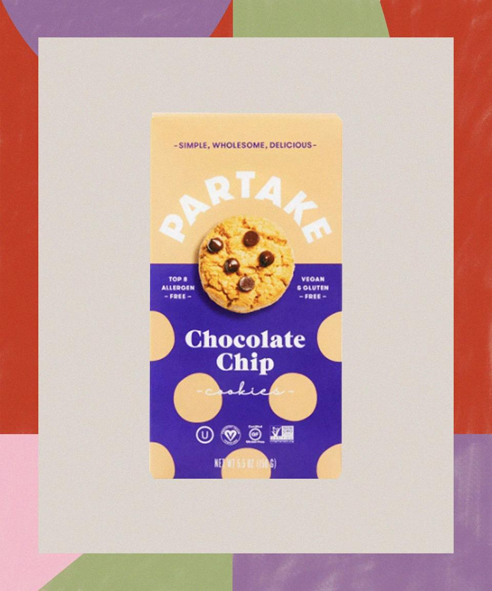 """<h2>Denise Woodward, Partake Foods</h2><strong>The Product: Top 8 Allergen-Free Cookies</strong><br> <br>North Carolina native Denise Woodward spent most of her career in corporate America, but after discovering her young daughter Vivienne's multiple food allergies, she realized she couldn't find any snacks that fit her """"nutritional standards and satisfied Vivenne's taste buds."""" She didn't want her daughter — or the average """"two kids in every classroom in America"""" who have food allergies — to not be able to fully participate in playdates and birthday parties, so she started baking. After collaborating with a food scientist, Woodward unveiled eight types of cookies under the name Partake Foods, including triple chocolate, chocolate chip, birthday cake, and gingersnap. Free of the top eight allergens, Woodward's treats relieve much of the stress for those dealing with daily allergy management.<br><br><strong>Partake</strong> Gluten Free Vegan Chocolate Chip Cookies, $, available at <a href=""""https://go.skimresources.com/?id=30283X879131&url=https%3A%2F%2Fwww.target.com%2Fp%2Fpartake-gluten-free-vegan-chocolate-chip-cookies-5-5oz%2F-%2FA-79473870%23lnk%3Dsametab"""" rel=""""nofollow noopener"""" target=""""_blank"""" data-ylk=""""slk:Target"""" class=""""link rapid-noclick-resp"""">Target</a>"""