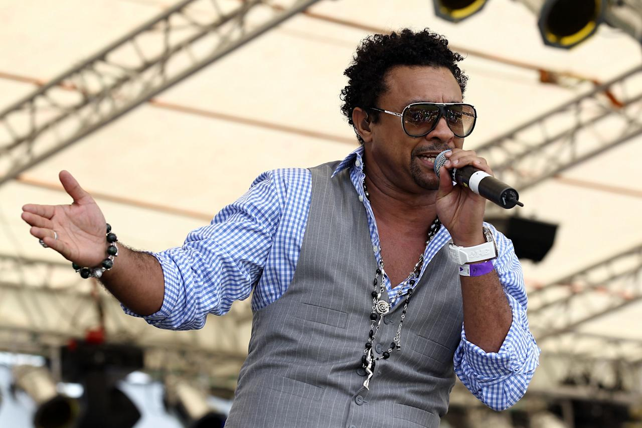 PROVIDENCE, GUYANA - APRIL 30:  International artisit Shaggy performs during The ICC T20 World Cup Opening Ceremony at the Guyana National Stadium Cricket Ground on April 30, 2010 in Providence, Guyana.  (Photo by Clive Rose/Getty Images)