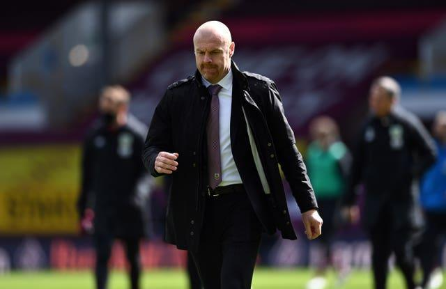 Burnley manager Sean Dyche has seen his side lose their last three games (Stu Forster/PA)