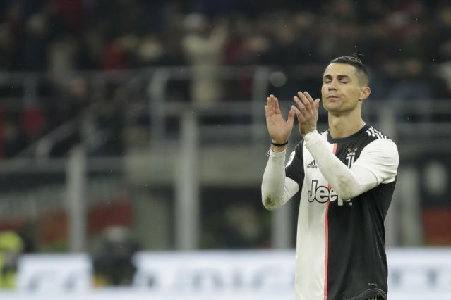 Cristiano Ronaldo. (AP Photo/Luca Bruno)