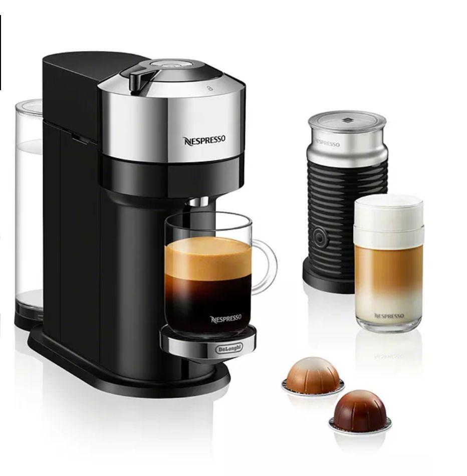 "Get the <a href=""https://fave.co/3fLfm81"" target=""_blank"" rel=""noopener noreferrer"">Nespresso Vertuo Next Espresso Maker by De'Longhi on sale for $180</a> (normally $237) at Macy's."