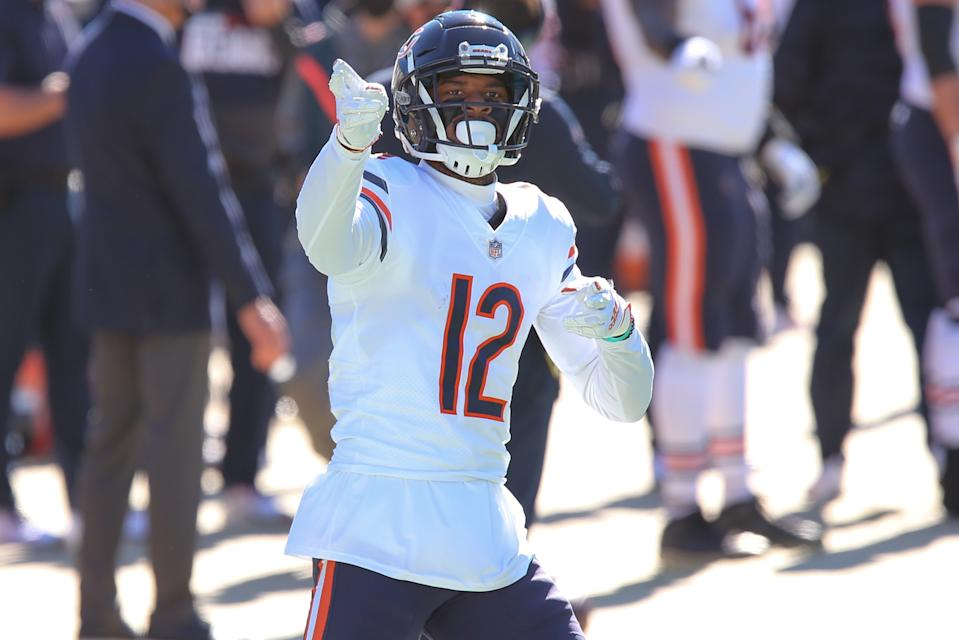 Chicago Bears wide receiver Allen Robinson celebrates against his former team, the Jacksonville Jaguars. (Photo by David Rosenblum/Icon Sportswire via Getty Images)