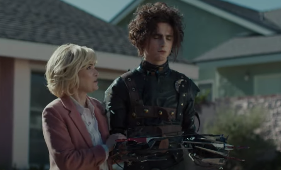 Winona Ryder and Timothee Chalamet star in an 'Edward Scissorhands'-themed ad for Cadillac (Photo: Cadillac/YouTube)