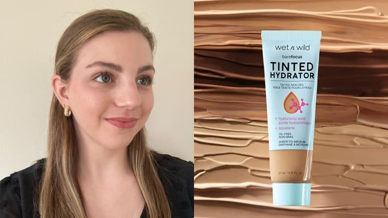 The Wet n Wild Bare Focus Tinted Hydrator Tinted Skin Veil offers sheer to medium coverage, depending on how you build it on the skin.