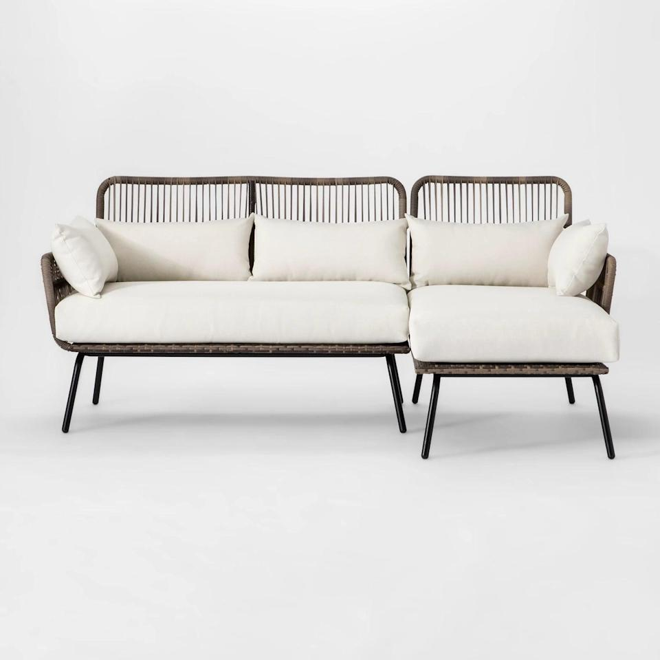 <p>Add this <span>Opalhouse Latigo Patio Sectional</span> ($595, originally $700) to your space so you can lounge outdoors all summer long.</p>