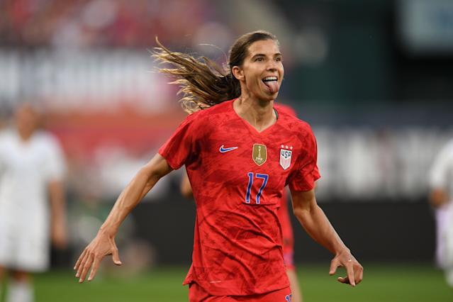 """<a class=""""link rapid-noclick-resp"""" href=""""/olympics/rio-2016/a/1124259/"""" data-ylk=""""slk:Tobin Heath"""">Tobin Heath</a>'s array of offensive moves is dizzying, and none are more memorable than her signature nutmegs. (Getty)"""