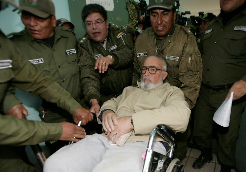 Bolivia's jailed former 'minister for cocaine' dies at 82