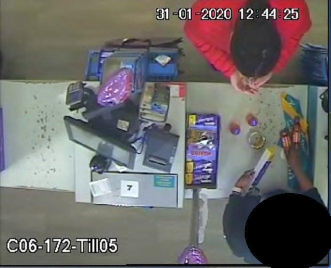 Sudesh Amman buying items from Poundland on January 31 2020 which he used in his fake suicide belt (Metropolitan Police/PA) (PA Media)