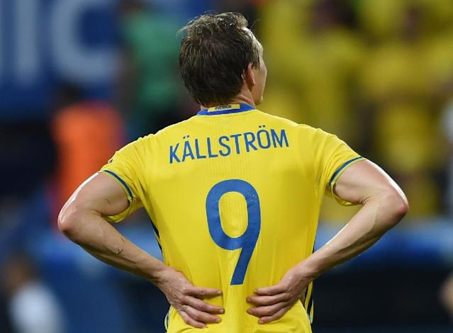Sweden's midfielder Kim Kallstrom won national league titles with Djurgardens and Lyon and also played for Rennes, Spartak Moscow, Grasshoppers and Arsenal (AFP Photo/BULENT KILIC)