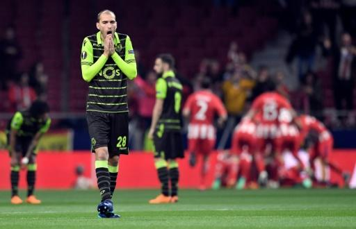 Sporting Lisbon's Dutch international Bas Dost needed stitches to his neck after the attack