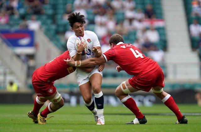 Marcus Smith (centre) was withdrawn against Canada after his call-up