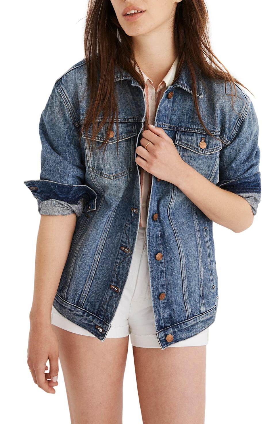 <p>This <span>Madewell The Jean Jacket</span> ($118) goes with everything.</p>