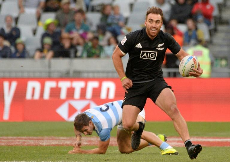 Joe Webber scored two of New Zealand's three tries against Argentina in Cape Town (AFP Photo/RODGER BOSCH)