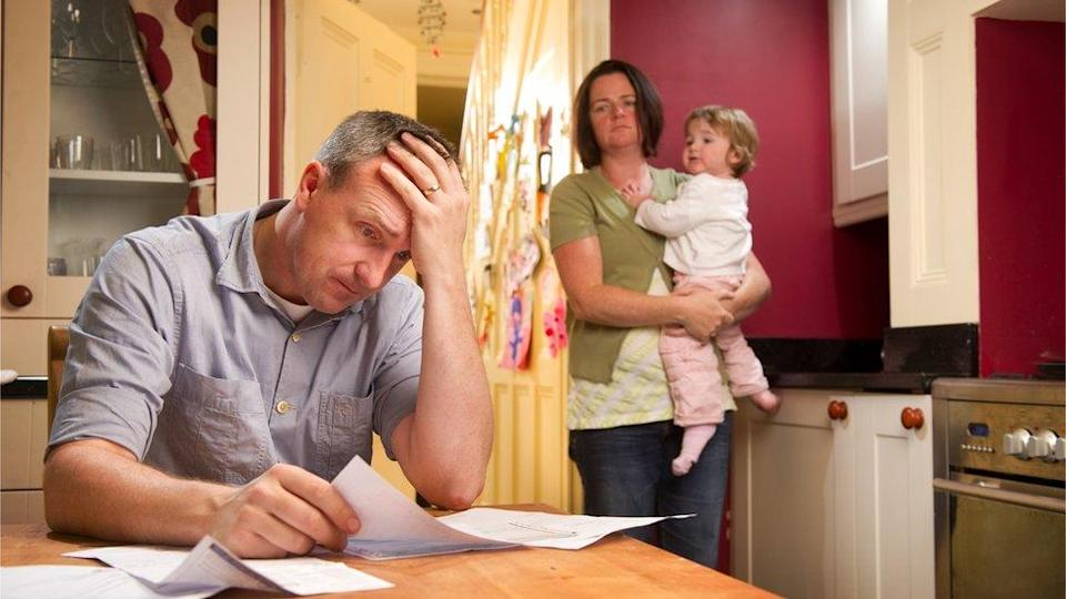A family dealing with money problems