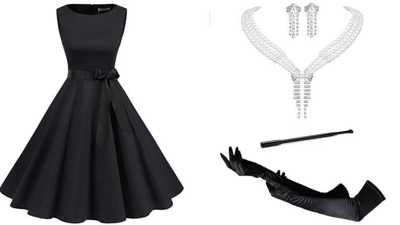This Holly Golightly look is so cute and easy to assemble, you'll never want to take it off.