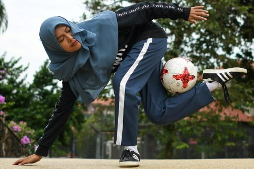 In freestyle football, players use all parts of their body to perform often acrobatic tricks with the ball