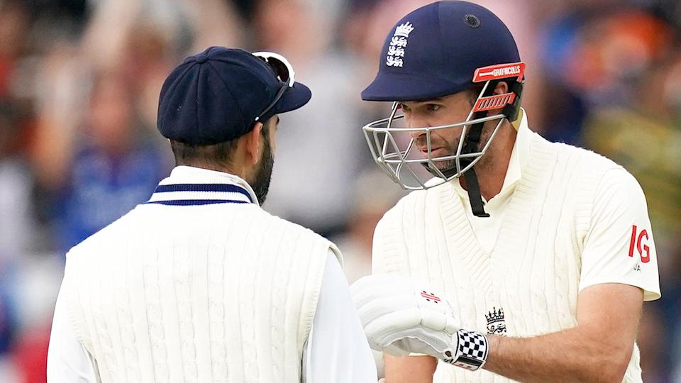 Pictured here, Virat Kohli and James Anderson have a heated discussion during the second Test.