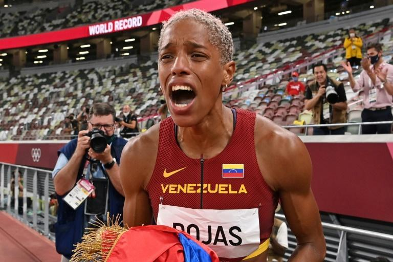 Yulimar Rojas beat the long-standing women's triple jump world record as she won Olympic gold
