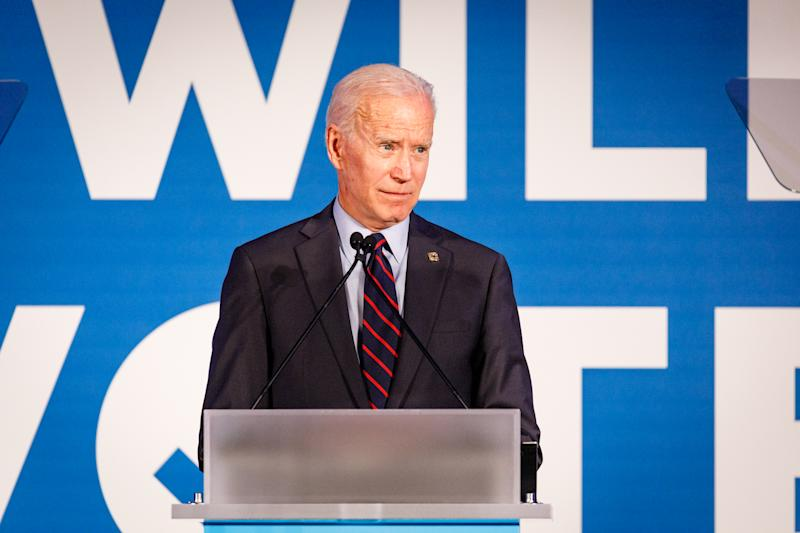 Biden, Trump trade barbs in duel for blue collar votes in Iowa