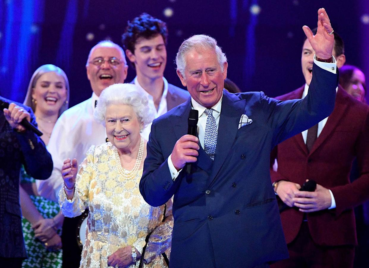 The Queen and Prince Charles at a concert to celebrate her 92nd birthday in April (PA)