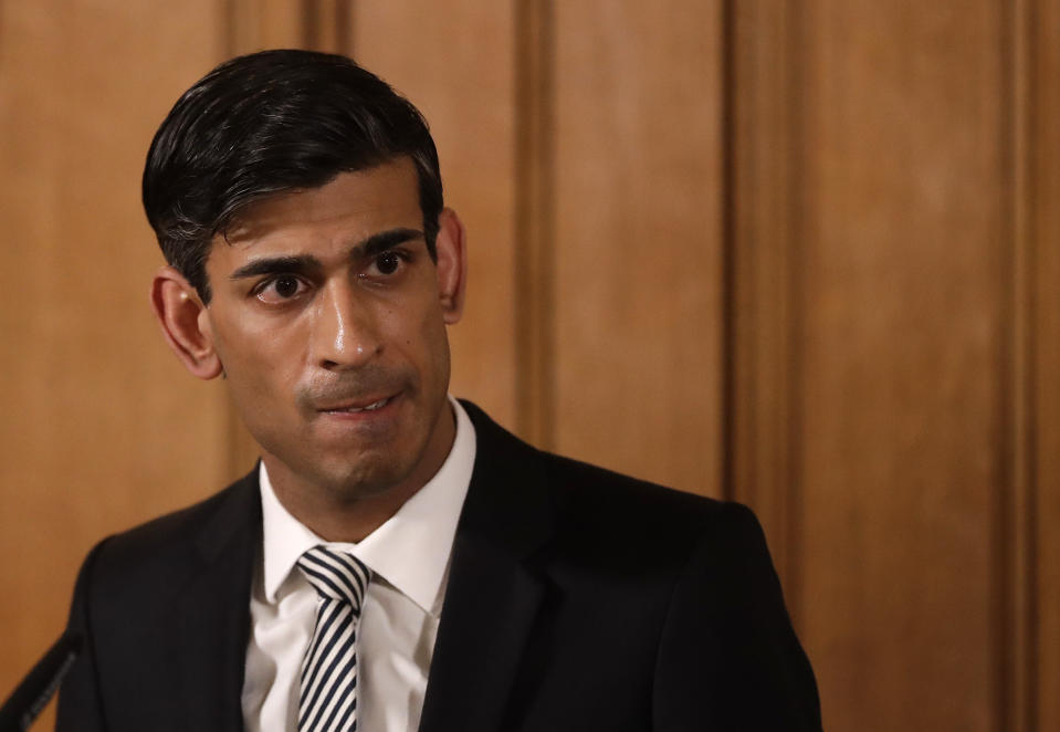 Chancellor Rishi Sunak during a media briefing in Downing Street, London, on Coronavirus (COVID-19). Picture date: Tuesday March 17, 2020. See PA story HEALTH Coronavirus. Photo credit should read: Matt Dunham/PA Wire