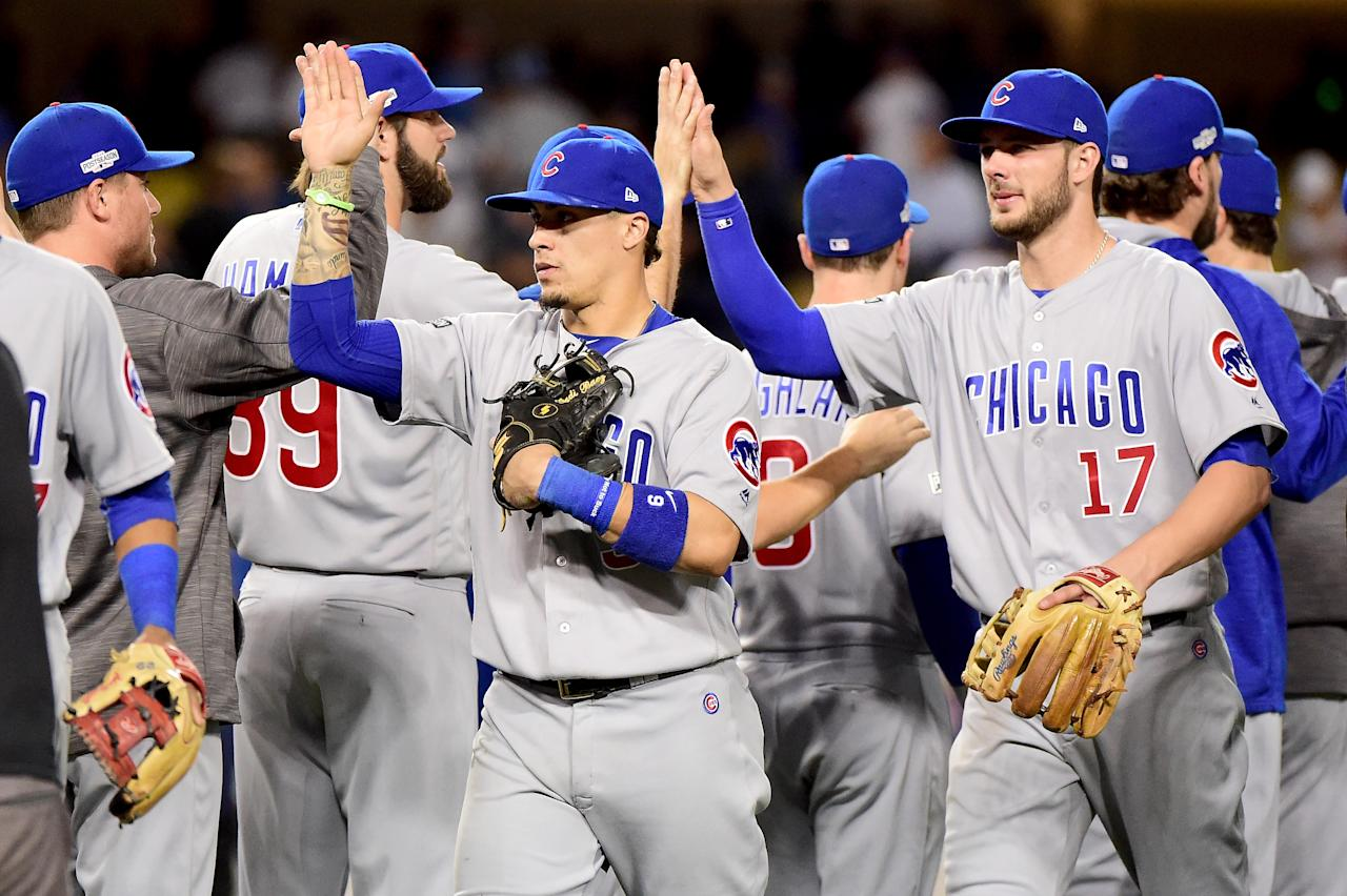 The Chicago Cubs are one win away from the World Series. (AFP Photo/Harry How)