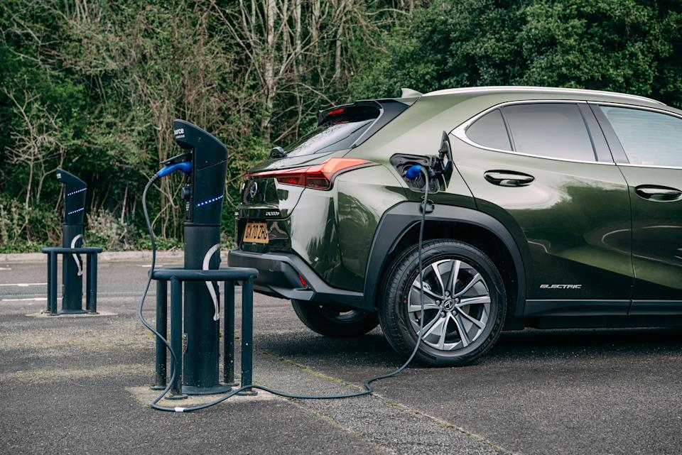 The UX 300e will do between 115 miles (cold weather, motorway driving) and 240 miles (warm weather, city journeys) (Lexus)